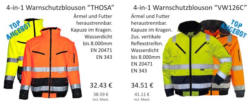 4-in-1 WarnschutzblousonThosa und 4-in-1 Warnschutzblouson VW126C