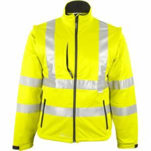 Warnschutz-Softshell-Jacke - Prevent 8060G - fluo-gelb