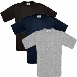 newest ed8ed f67d6 Herren-T-Shirt - B&C Exact 190 / 180.42 / TU004 - bis Grösse 4XL - nur  schwarz, navy, grau und weiss