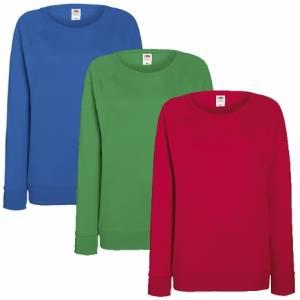 Damen Sweatshirt Fruit of the Loom Lightweight Lady Fit 229.01 14 verschiedene Farben
