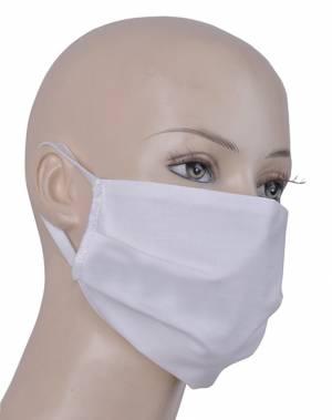 Stoff-Gesichtsmaske - Nasen-und Mundbedeckung - TIFA - Farbe weiss - 100% Baumwolle, waschbar bis 95 Grad