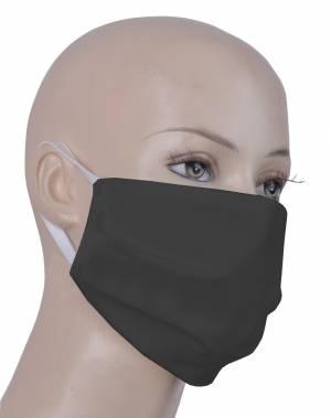 Stoff-Gesichtsmaske - Nasen-und Mundbedeckung - TIFA - Farbe schwarz - 100% Baumwolle, waschbar bis 95 Grad