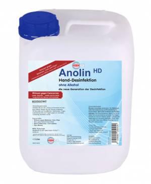 5 LITER-Kanister ECOBIOMED (alkoholfrei) HAND-DESFINKETIONS-LÖSUNG - ANOLIN - die neue Generation der Desinfektion