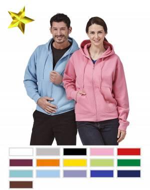 LUXURY-HOODED-SWEAT-JACKET - FaPak HSJ - 16 verschiedene Farben, XS-5XL