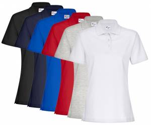SONDERANGEBOT DAMEN-PIQUE-POLO-SHIRT - FaPak B8005 - 6 verschiedene Farben, XS-5XL