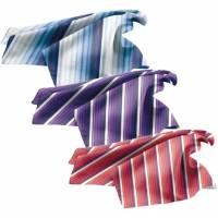 Damen-Einstecktuch / Damen-Halstuch - Exner 951-72 - gestreift - 5 verschiedene Farben