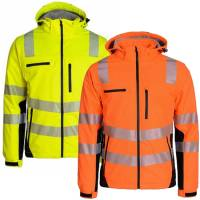 Warnschutz-Winter-Softshell-Jacke - Prevent Trendline PTW-SP 68/78 - winddicht, wasserdicht, atmungsaktiv