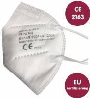 1.000 Stück hochwertige FFP2-Atemschutzmaske - FFP2-2163 - ohne Ventil - CE- und EN-Zertifizierung, extra leichtes atmen, TOP-Preis